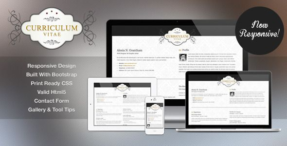 Retro Elegance - CV \/ Resume Html Template  Retro Elegance online - online resume website