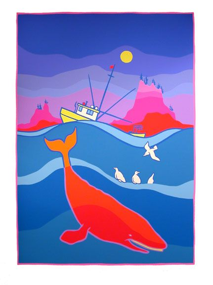 Floating Gulls, 1994 by Ted Harrison. Reminds me a bit of my favorite RPS piece. Love to have both of them side by side in my apartment in Anchorage someday :)