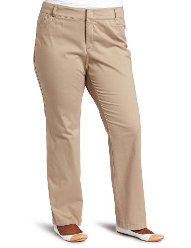 49286fa051f Dockers Women`s Plus-Size The Khaki Pant with Hello Smooth  42.99 ...
