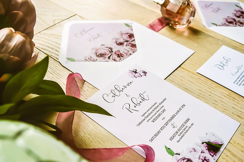 Perfect Peonies wedding invitation by PS Weddings ...