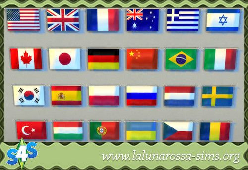 National Flags at LaLunaRossa • Sims 4 Updates