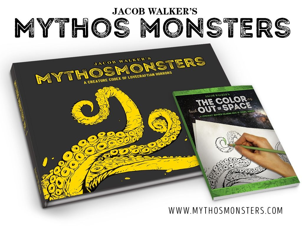 MythosMonsters - A Lovecraft Art Book & Coloring Book. | Art ...