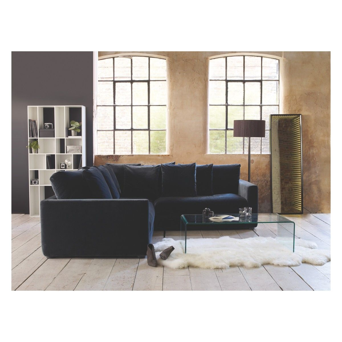 Super Rupert Dark Grey Velvet 3 Seater Left Arm Sofa Buy Now At Caraccident5 Cool Chair Designs And Ideas Caraccident5Info