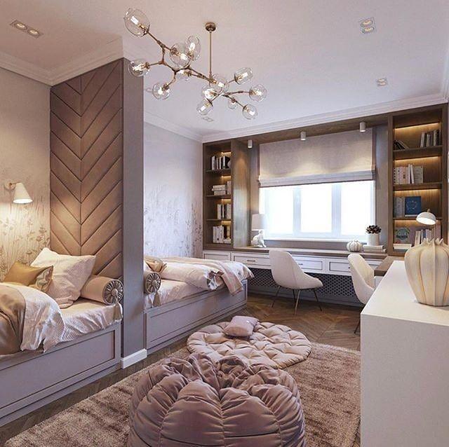 "85 Charming Rustic Bedroom Ideas And Designs 4 In 2020: Дизайн интерьера On Instagram: ""Нежная детская для двух"