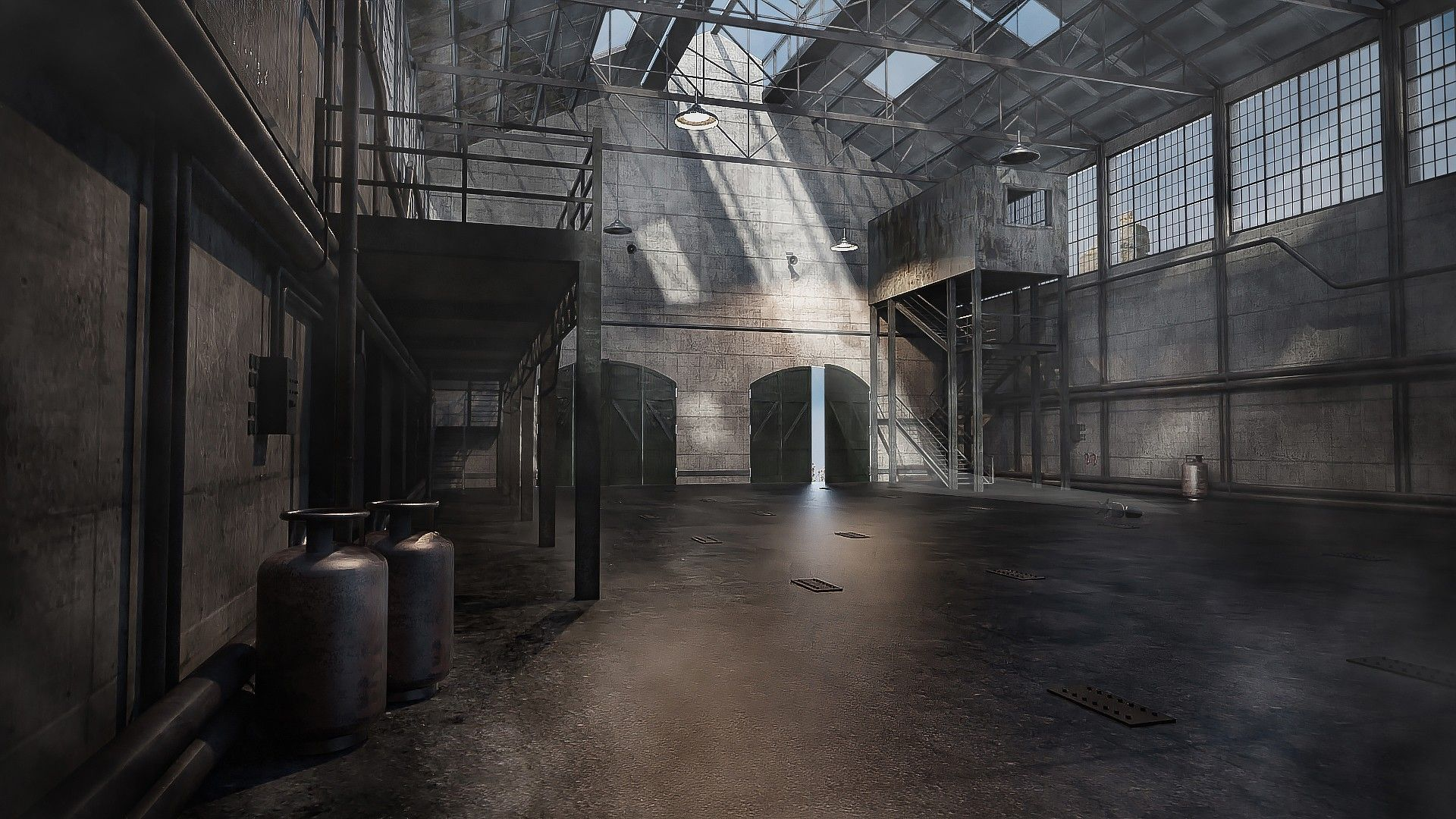 Abandoned Warehouse 3d Models And 3d Software By Daz 3d Inside Landscape Gray Big Space Window Abandoned Warehouse Abandoned Abandoned Places