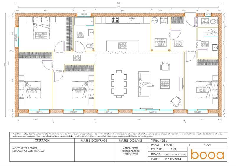 Maison booa écologique très design à ossature bois Plain-pied de 5