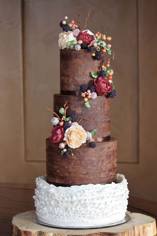 chocolate brown and burnt orange wedding cakes autumn burnt orange burgundy navy blue wedding colors 12688