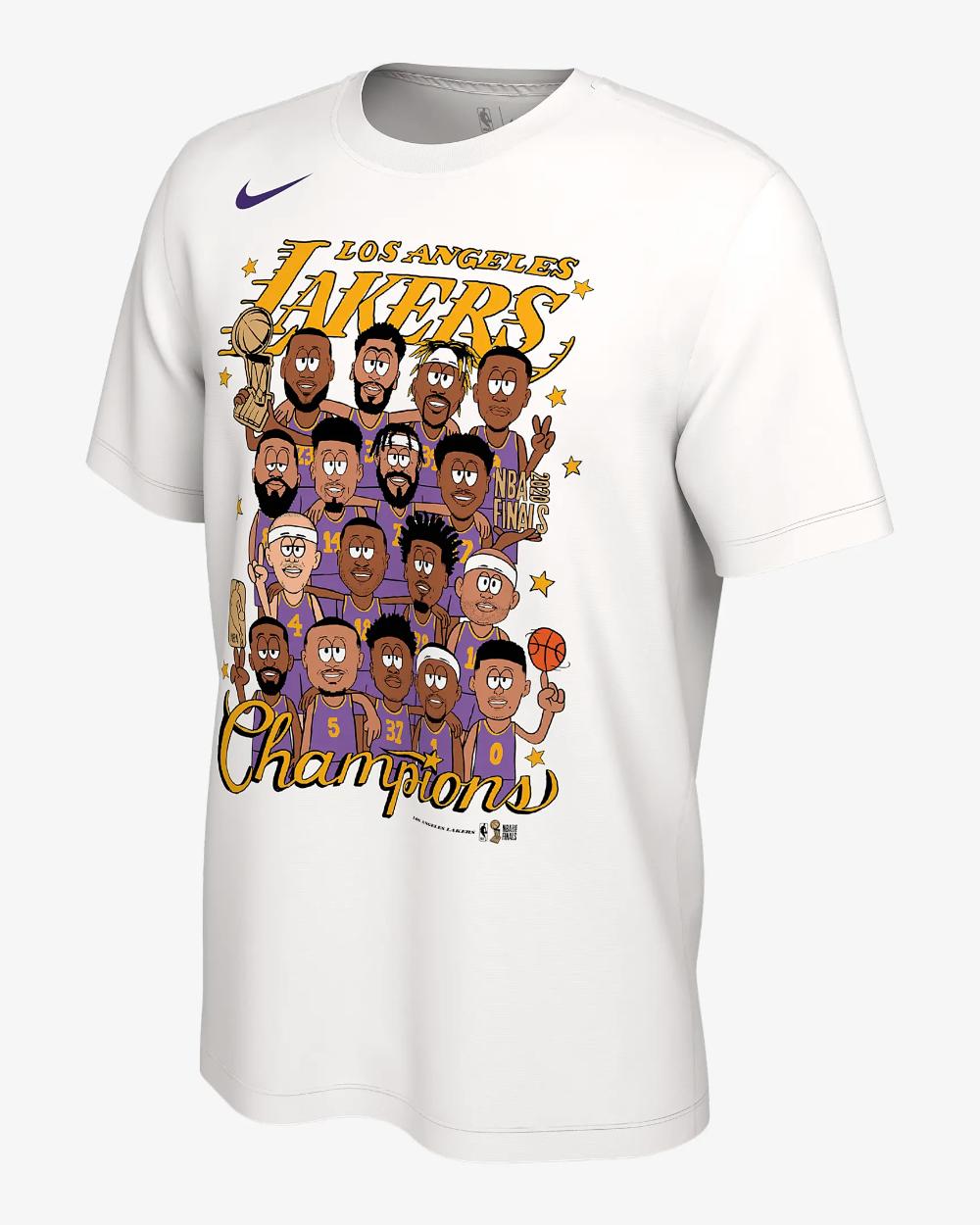 Los Angeles Lakers Champions Nike Nba Club Roster T Shirt Nike Com In 2020 Los Angeles Lakers Lakers Nba