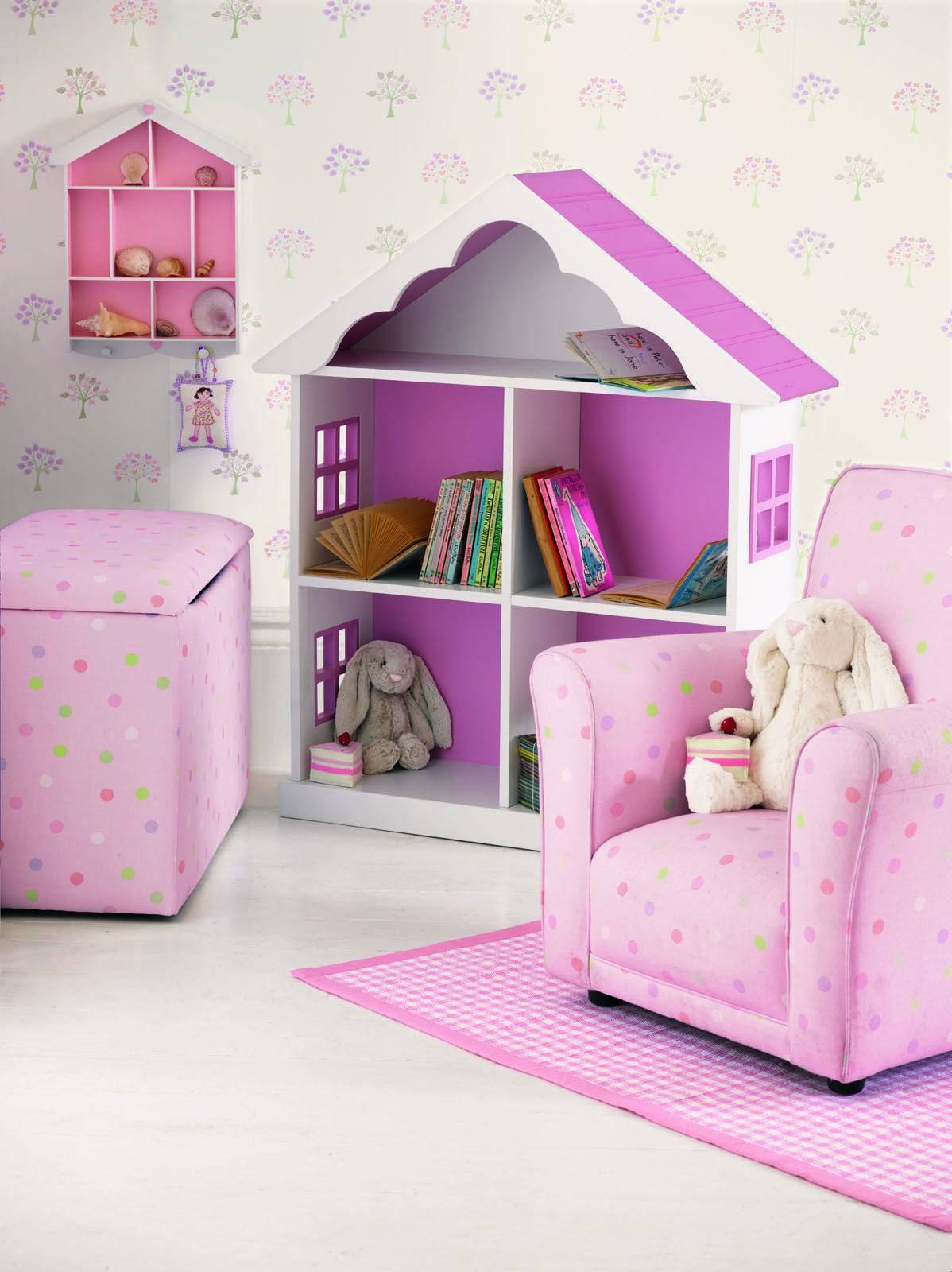 Mollie Spot Fabric Pink/Multi Laura Ashley USA polkadot