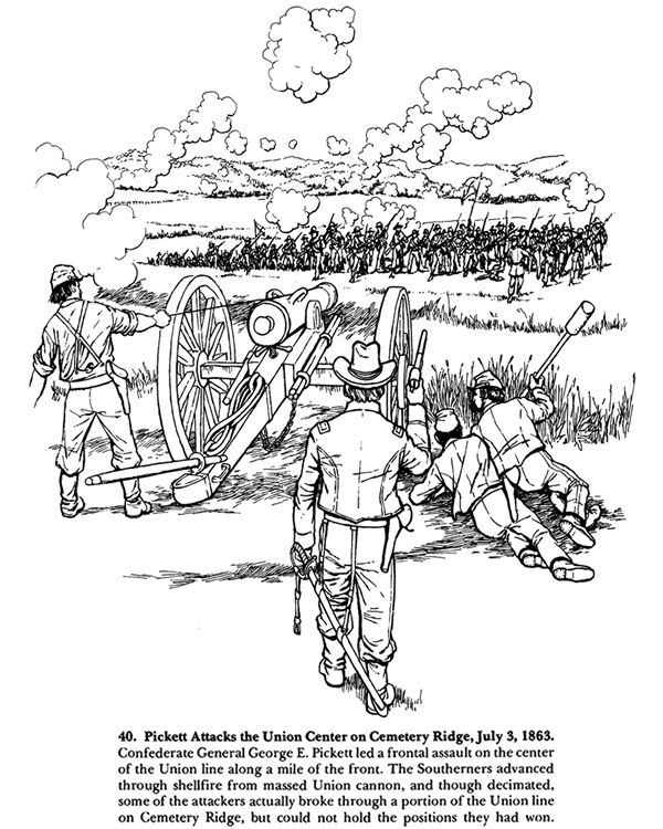 From Antietam To Gettysburg A Civil War Coloring Book Coloring