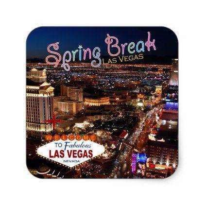 Spring break las vegas stickers craft supplies diy custom design supply special