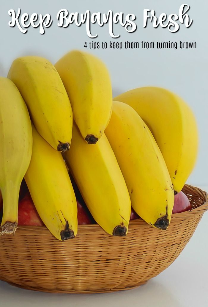 4 Easy Ways To Make Bananas Last Longer And Stay Yellow From Confessions Of An Overworked Mom