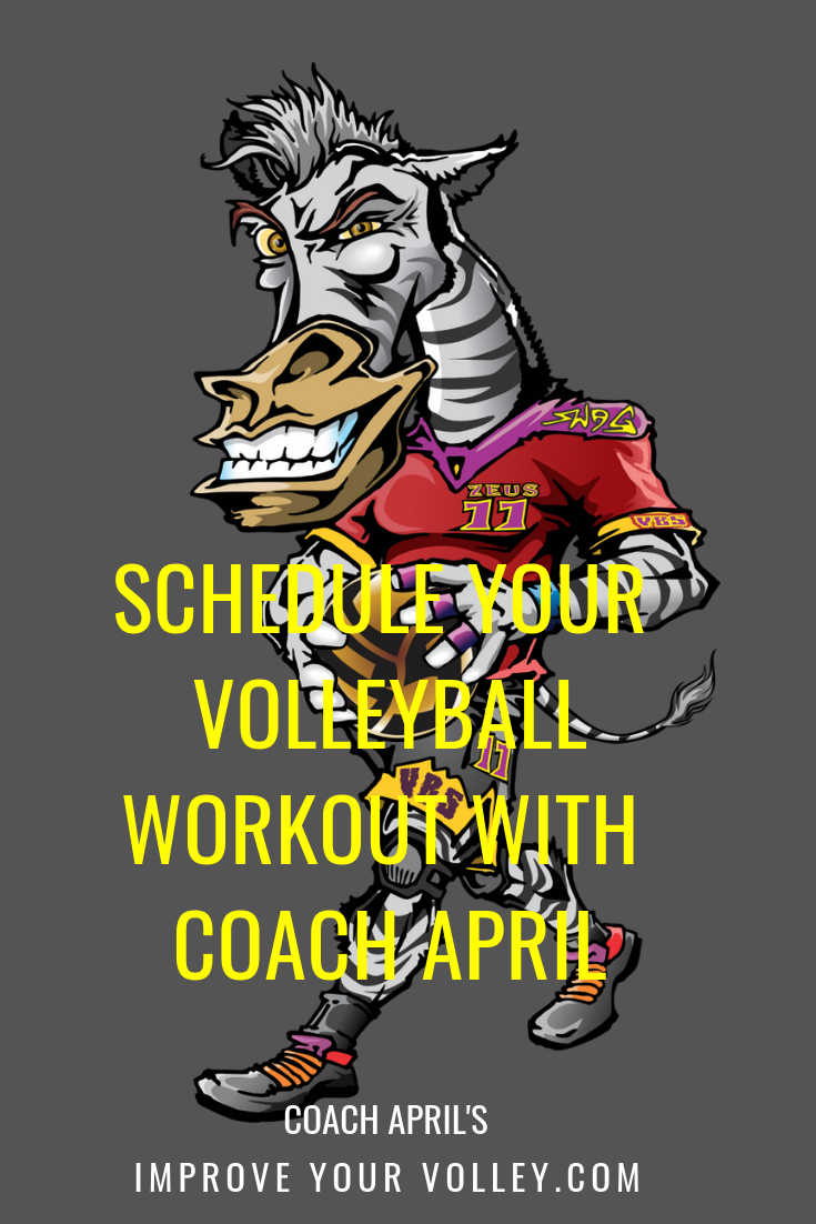 Coach April Volleyball Workout Pay As You Go Training For 1 6 Players Volleyball Workouts Volleyball Volleyball Training