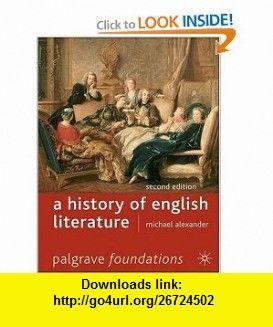 Of ebook history english literature