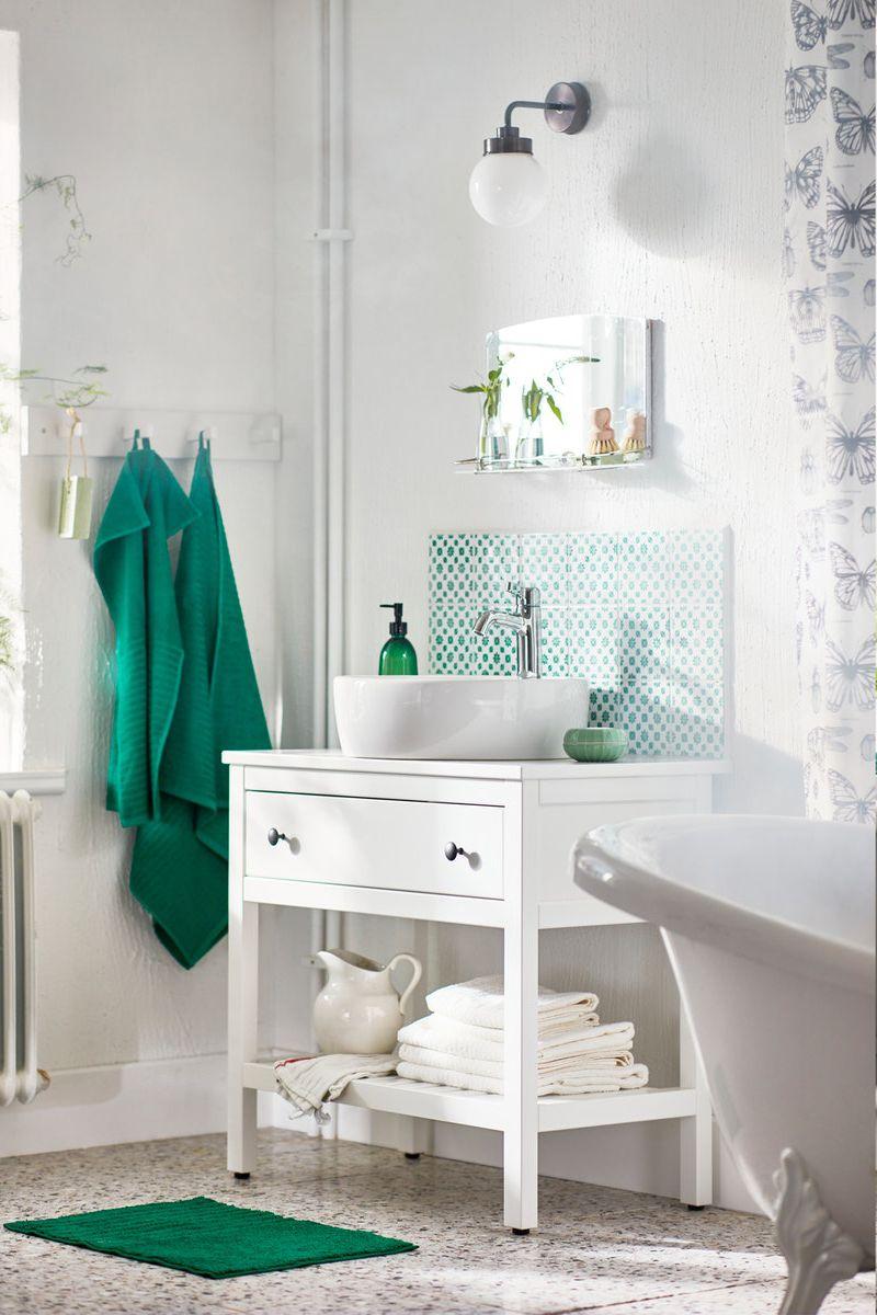 Hemnes Waschbeckenschrank Offen 1 Schubl Weiss Ikea Deutschland In 2020 Badezimmer Ablage Waschbeckenschrank Ikea