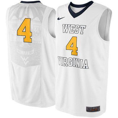 cda72dec2 Men s white WVU Basketball Jersey
