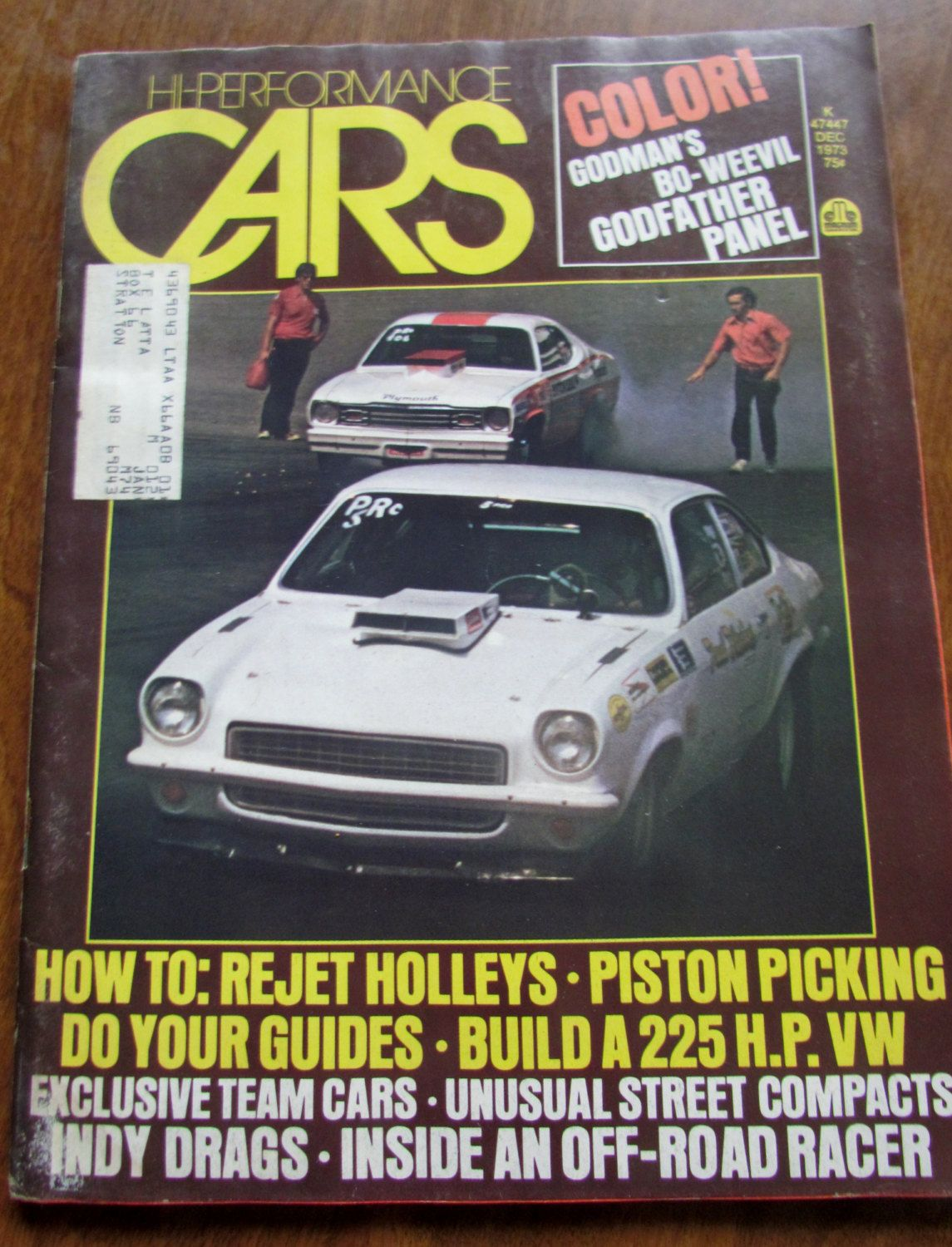 Hi Performance Cars Magazine Dec. 1973 by VintageEtcEtc on Etsy