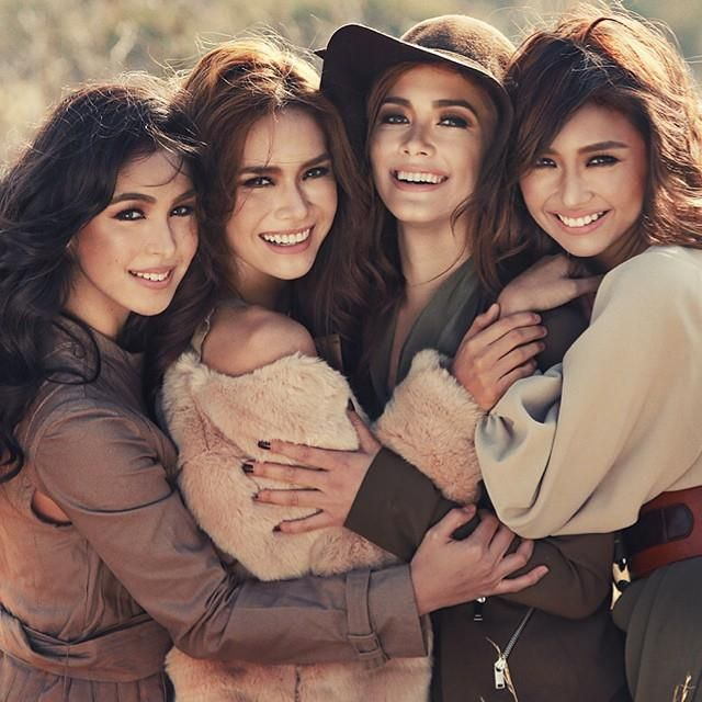 Julia Barreto, Erich Gonzales, Maja Salvador and Kathryn Bernardo. For MEGA.