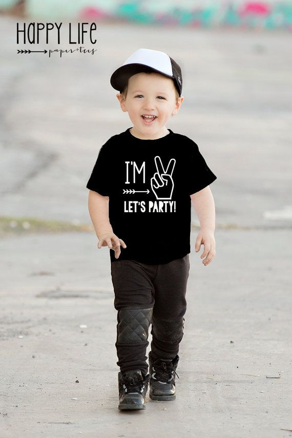 e4439ddb Im Two Lets Party - Birthday Shirt- Second Birthday- Hipster T-Shirt ...