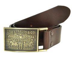 Levi's Antiqued Removable Plaque Buckle Leather Belt