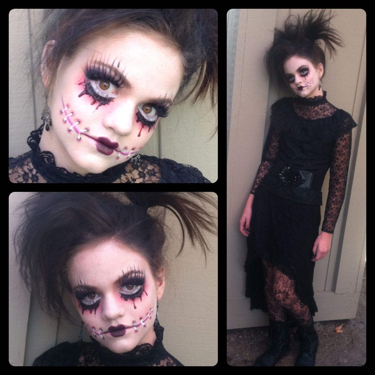 Gothic creepy doll makeup by Jessi Jewel Artistry from Rocklin Ca
