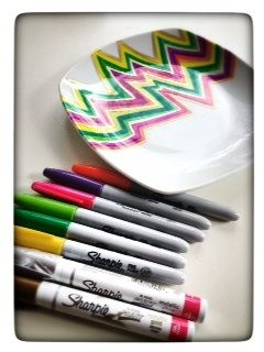 Awesome Easy Diy Sharpie Markers And Ceramic Plates