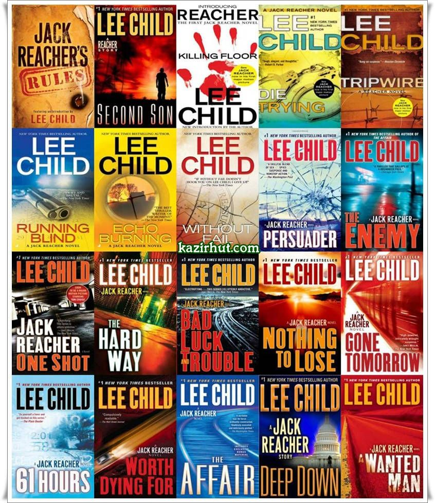 Lee Child Jack Reacher Book Collection 2012 English