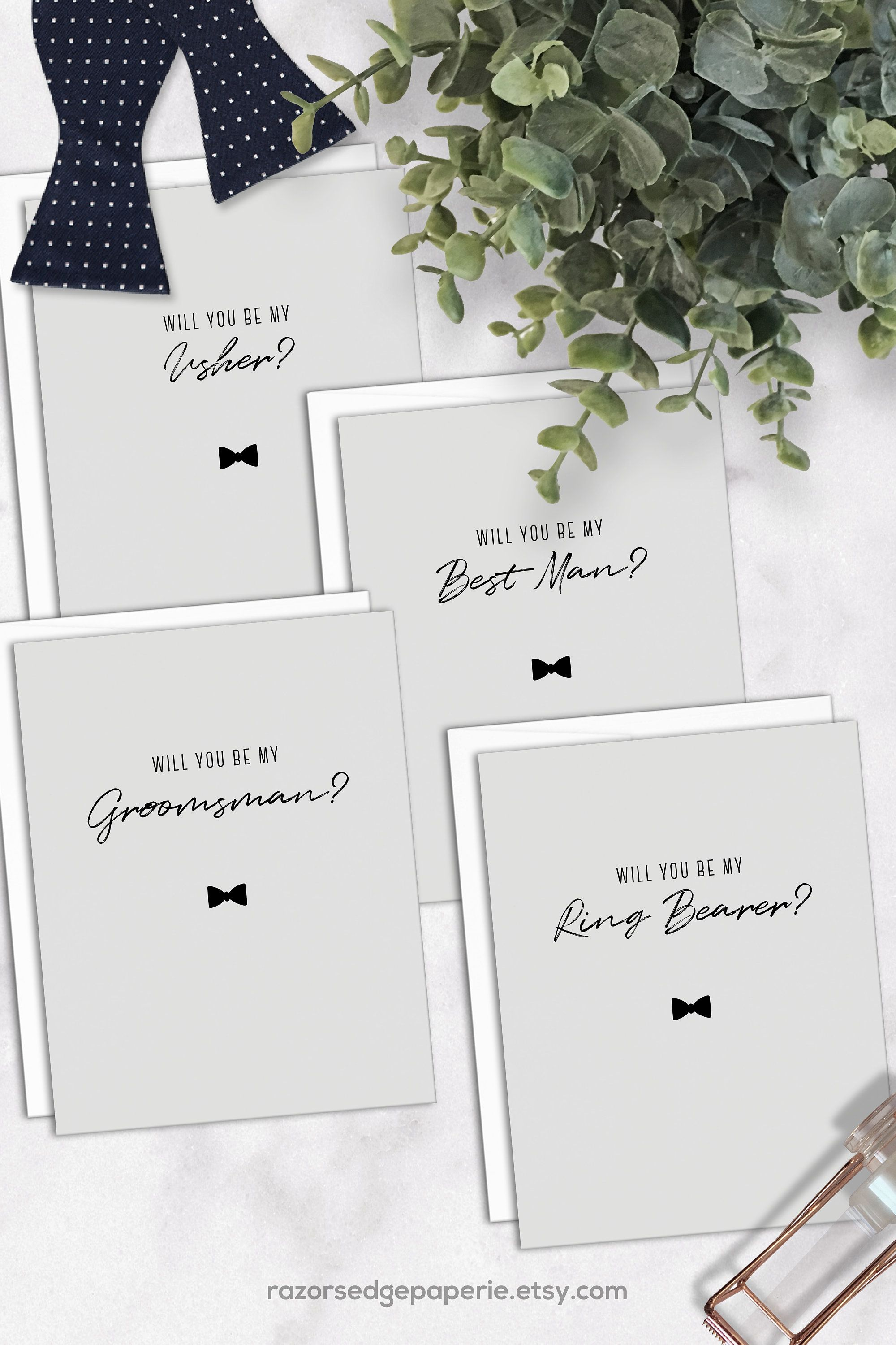 Printable Groomsman Proposal Cards Instant Download Bowtie Etsy Groomsmen Proposal Groomsman Card Printable Invitations
