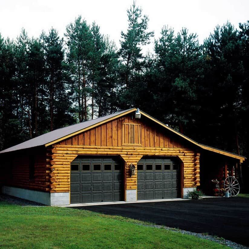 The Log Garage Kits Roundup 8 Models To Suit Every Budget Log Cabin Hub Garage Kits Log Cabin Siding How To Build A Log Cabin