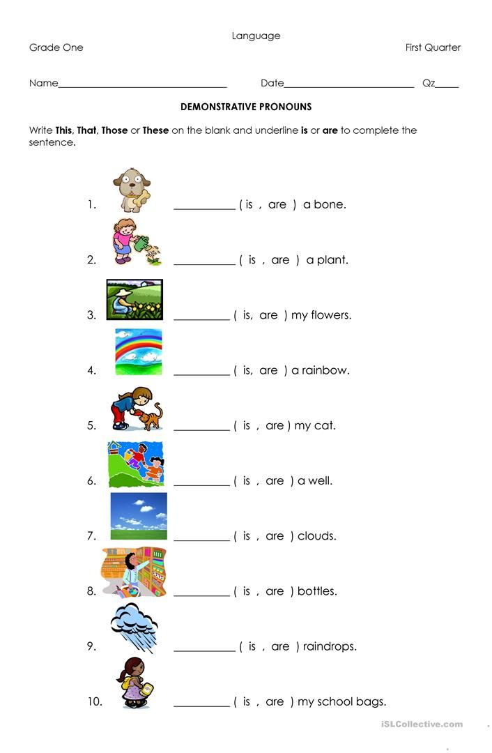 Demonstrative Pronouns | kindergarten pins | Pinterest | Pronoun ...