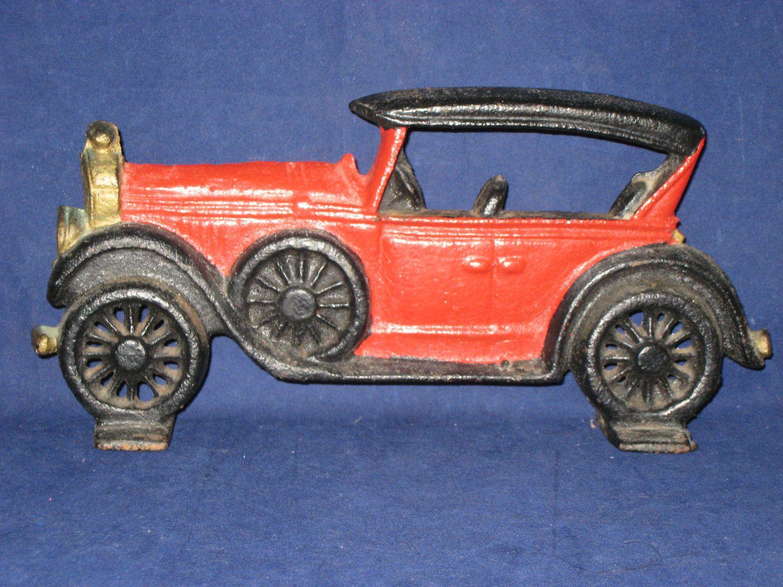 Antique car door stopvintage cast iron model a door stop