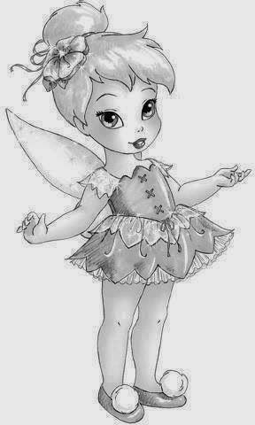 baby tinkerbell coloring pages - photo#35