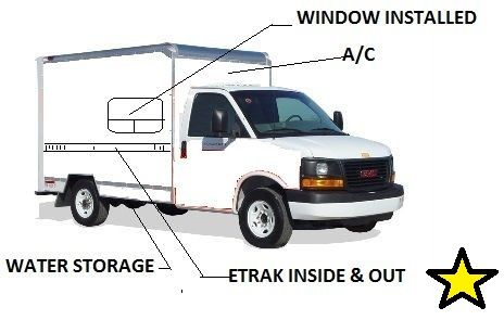 Outline Of My Uhaul Box Van Conversion 10 Box Gmc 3500 4 8l Auto Motorcycle Camping Motorcycle Camping Gear Van