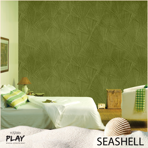 Do you wish to gaze at the sea from your living room Texture paint for living room