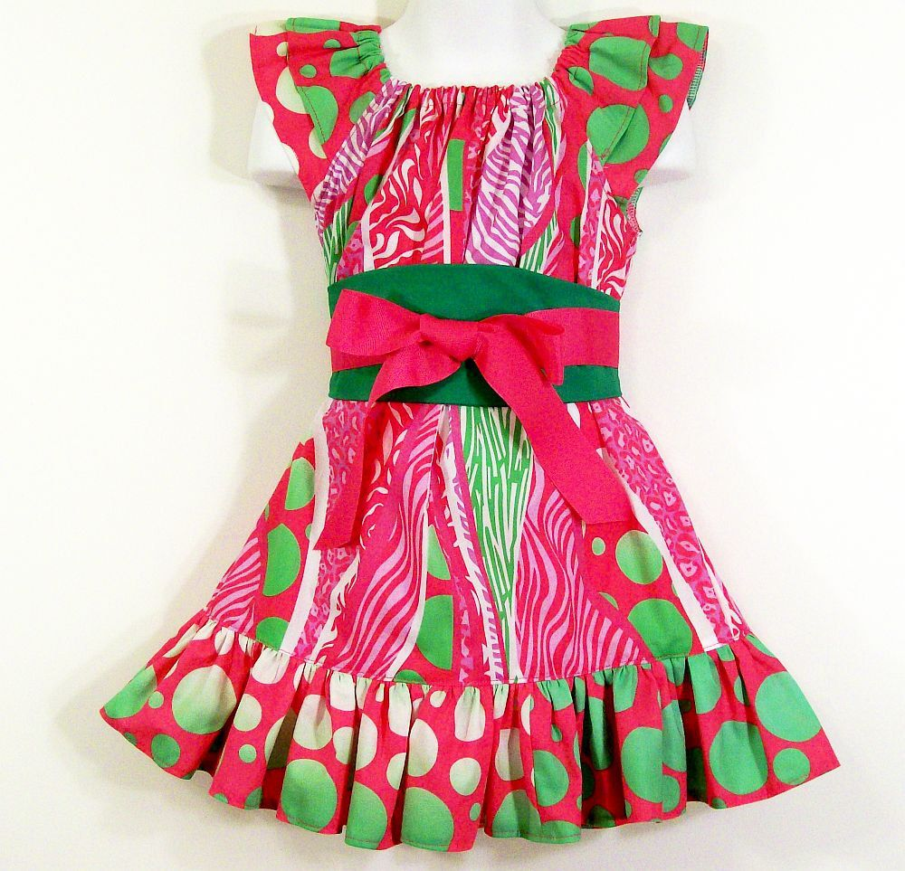 Girls Dress-Ruffle Top Dress--size 5. $35.00, via Etsy.