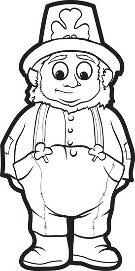 Leprechaun Coloring Page #10 | San patrick, Santa patricia y Actividades
