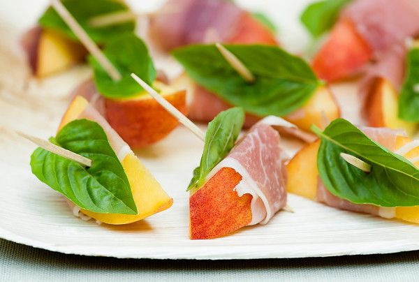 Spiced Peaches with Ham and Basil - Framed Cooks