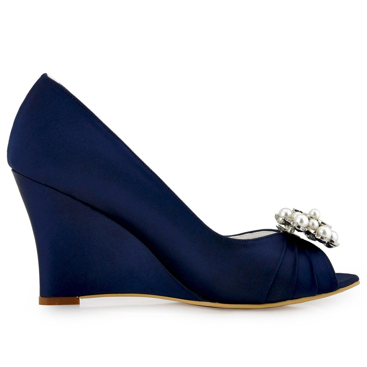 Elegantpark WP1549 Women Wedding Shoes Peep Toe AE01