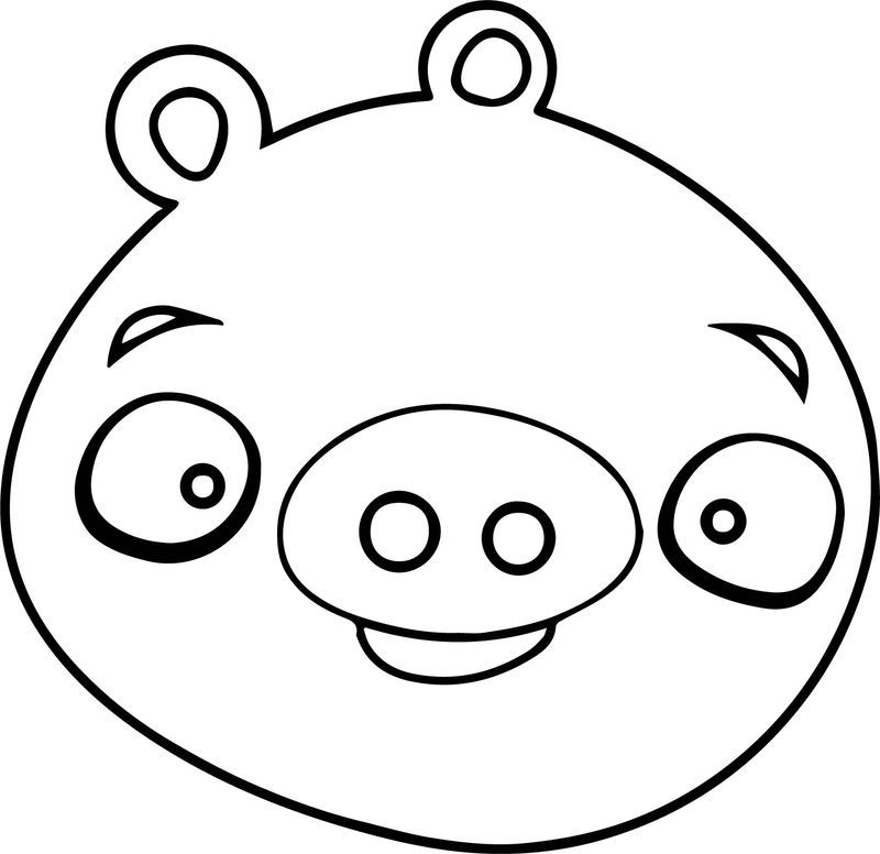 Angry Birds Pig Just Face Coloring Page