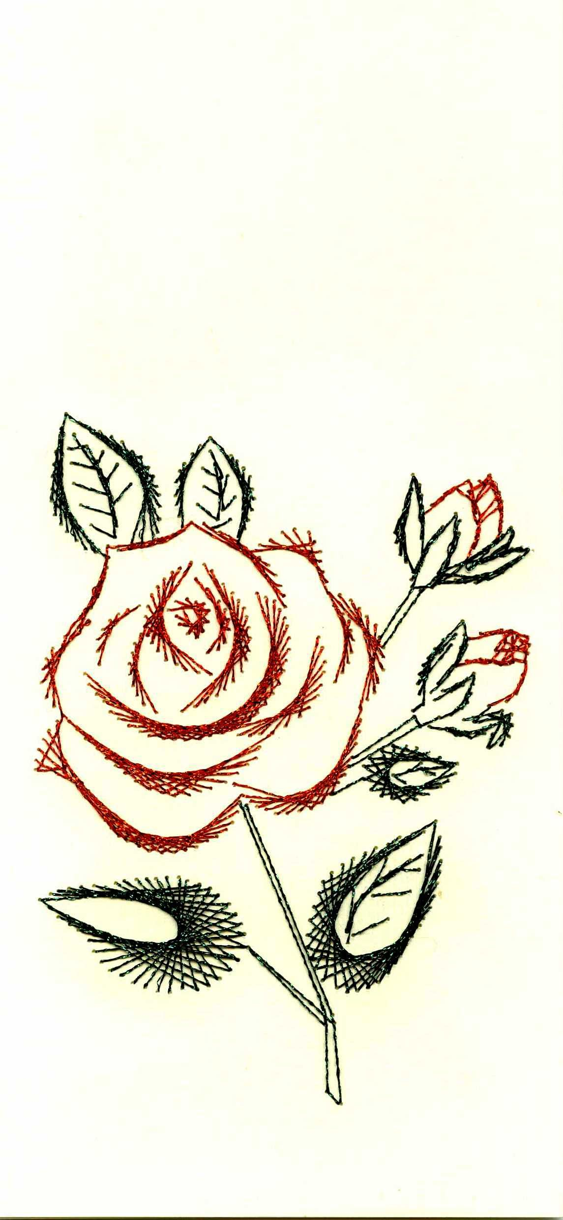 Haft Matematyczny Art Craft Cards Embroidery Cards Paper Embroidery