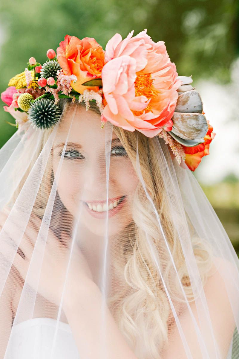 Diy succulent flower crown pinterest flower crowns crown and how to make a sweet succulent flower crown izmirmasajfo