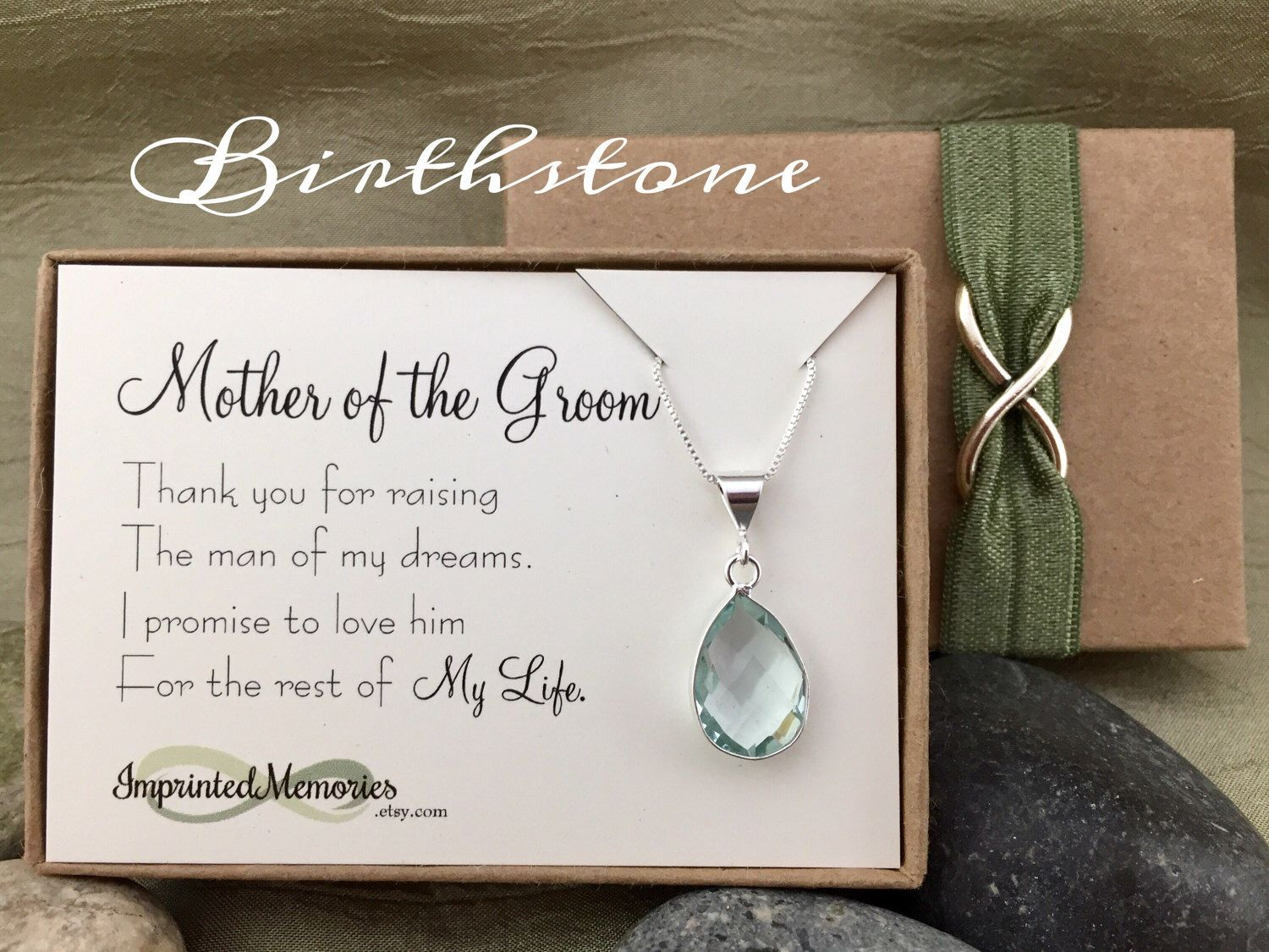 Mother of the Groom Gift from Bride - Thank you For Raising the Man of My Dreams - Birthstone Necklace Mother of the Groom Formal Jewelry by ImprintedMemories on Etsy https://www.etsy.com/listing/506896755/mother-of-the-groom-gift-from-bride