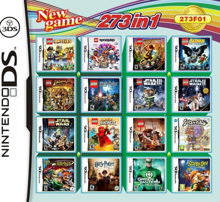 32gb 273 in 1 video multi games card for nintendo 3dsds