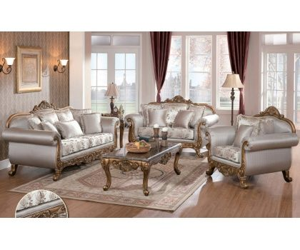 Cms Rihanna Victorian Silver Fabric Upholstery With Floral Print Cushion And Bronze Decorative