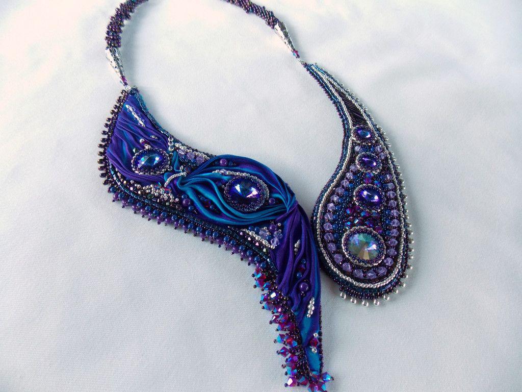 Shibori ribbon jewelry