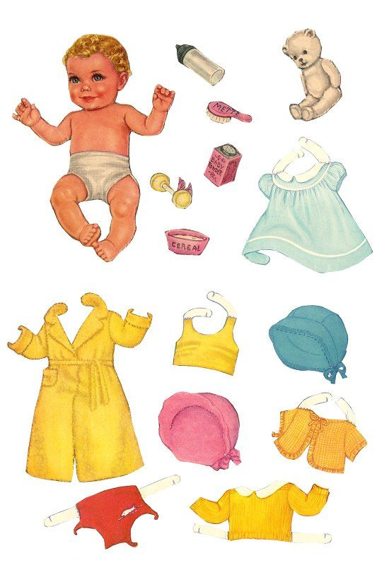This is a picture of Printable Vintage Paper Dolls with regard to public domain