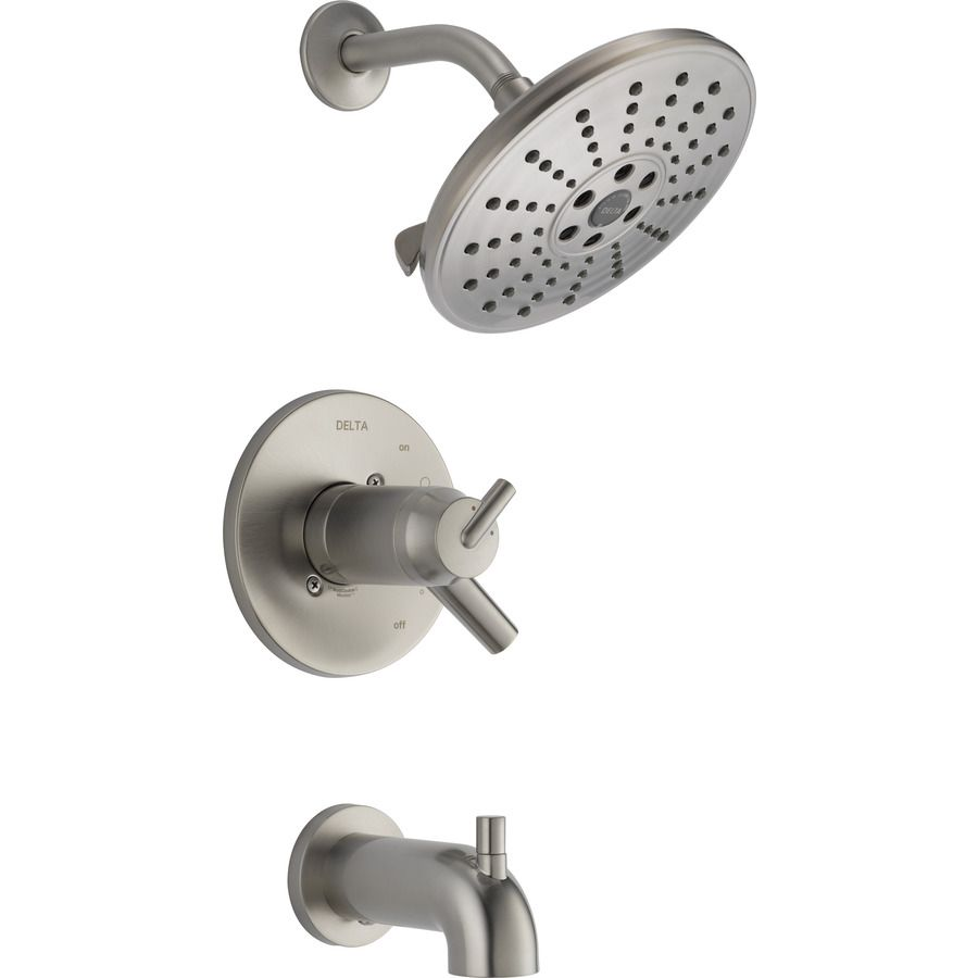 Delta Trinsic Stainless 2-Handle Watersense Bathtub And Shower ...