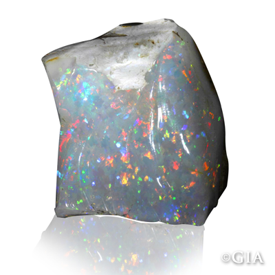 This 67.81-carat carved opal from Brazil looks to be glowing from within.  #GIABirtstones (1/21/13)