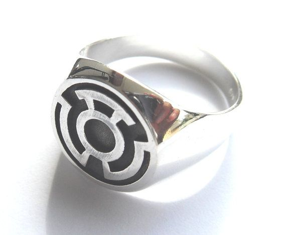 sinestro corps fear green lantern ring sterling silver
