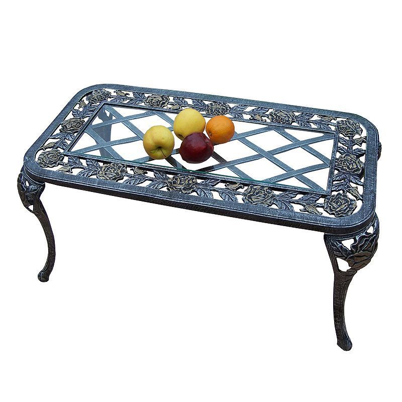Tea Rose Cast Aluminum Outdoor Coffee Table Products Table